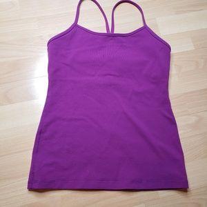 Lululemon Power Y purple tank top
